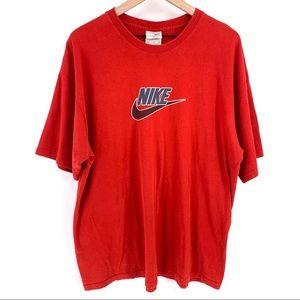 Vintage Nike Logo T Shirt Red